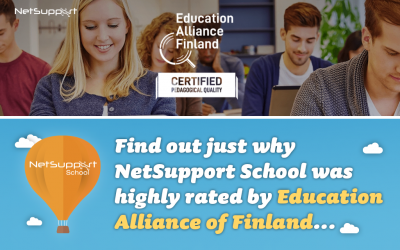 Find out why NetSupport School was highly rated by Education Alliance Finland…