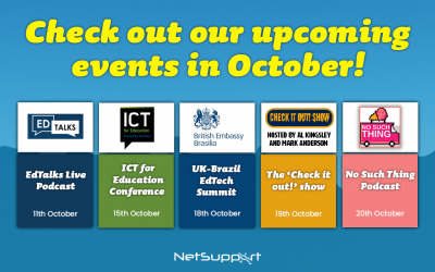 Check out our upcoming events in October!