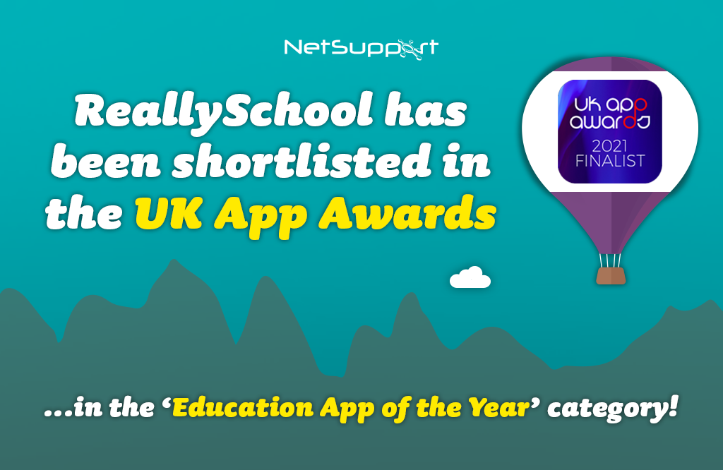 Great news – ReallySchool was shortlisted in the UK App Awards!