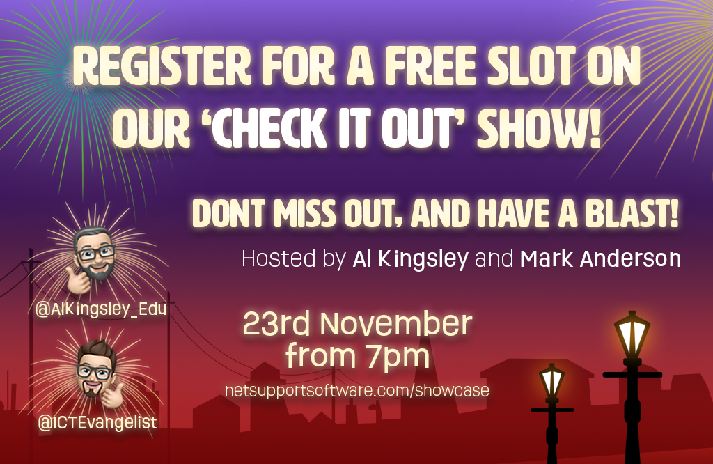 Register for a free guest slot on our 'Check it out!' show