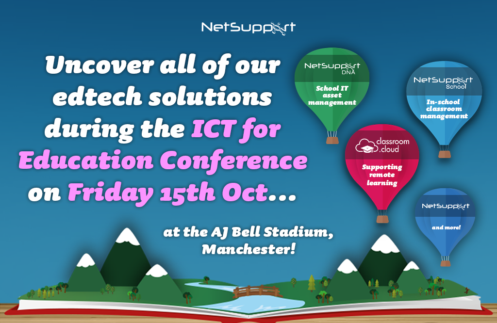 Join us today at the ICT for Education Conference in Manchester!
