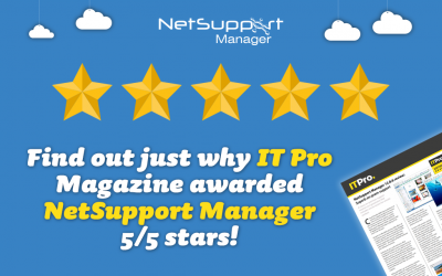 NetSupport Manager awarded 5/5 stars from IT Pro Magazine – discover why!